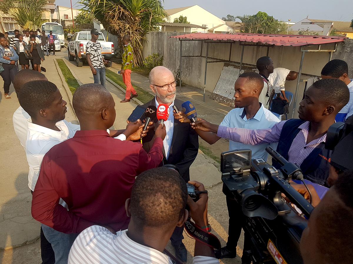 SOC Dean Raul Reis is interviewed in Angola