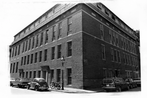69 Brimmer Street in 1970, the year that Emerson College purchased the property. (Photo courtesy Emerson College Archives and Special Collections)