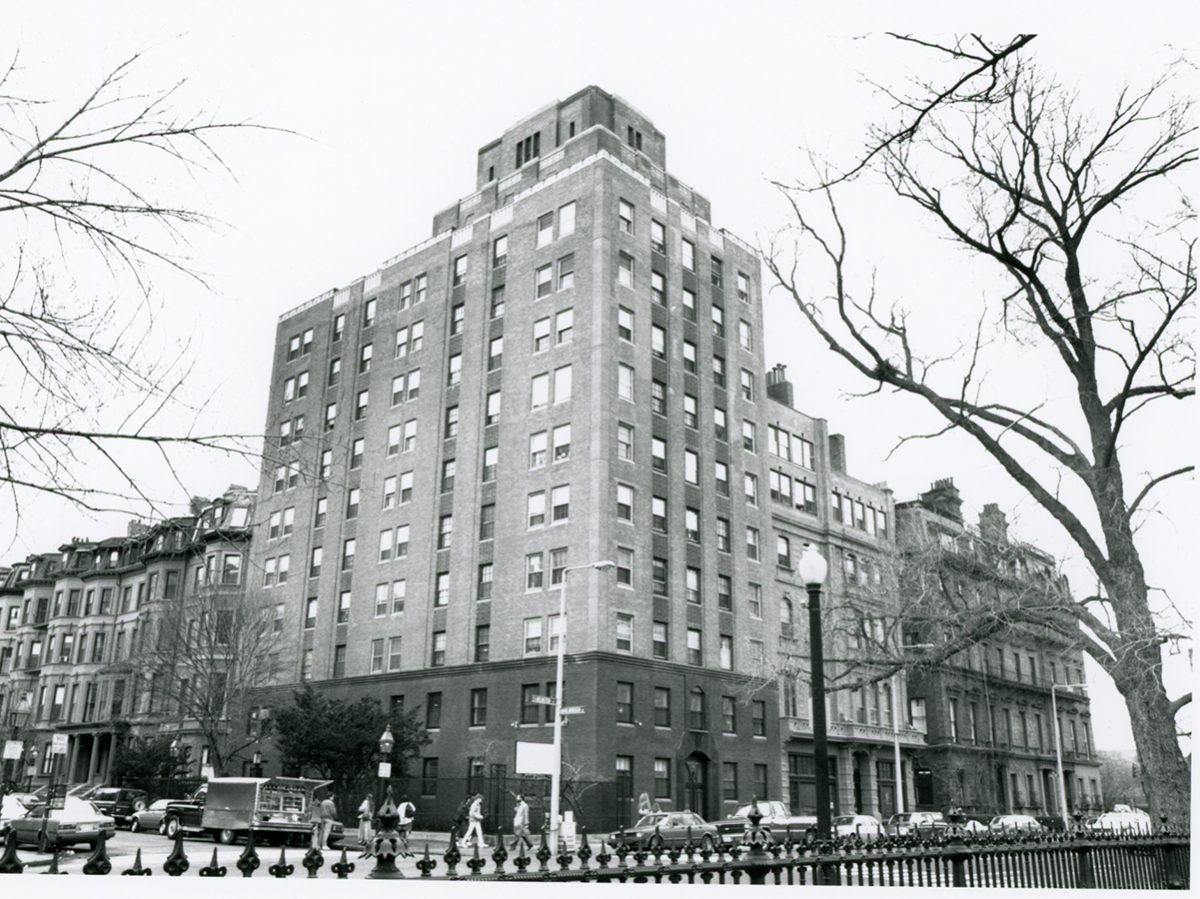 6 Arlington Street was a favorite dormitory for many Emerson College students. (Photo courtesy Emerson College Archives and Special Collections)