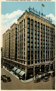 Postcard of the Little Building from Emerson College's Archives