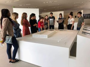 Students visited the Drancy Internment Camp outside of Paris, which was a detention center for Jews in France during World War II before being deported to Auschwitz.