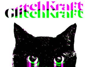Black cat digitally distorted