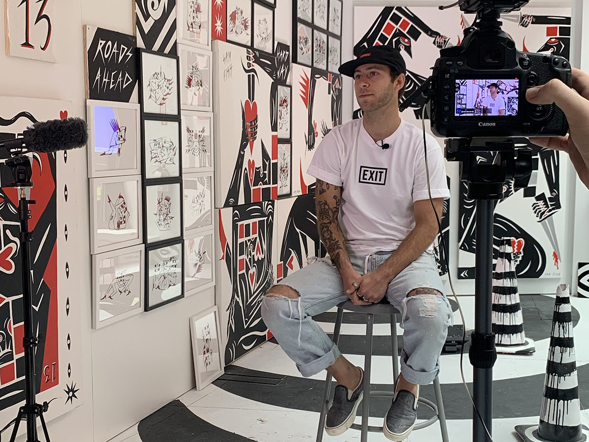 Sam Fish '15, founder and creator of the EXIT Galleries.
