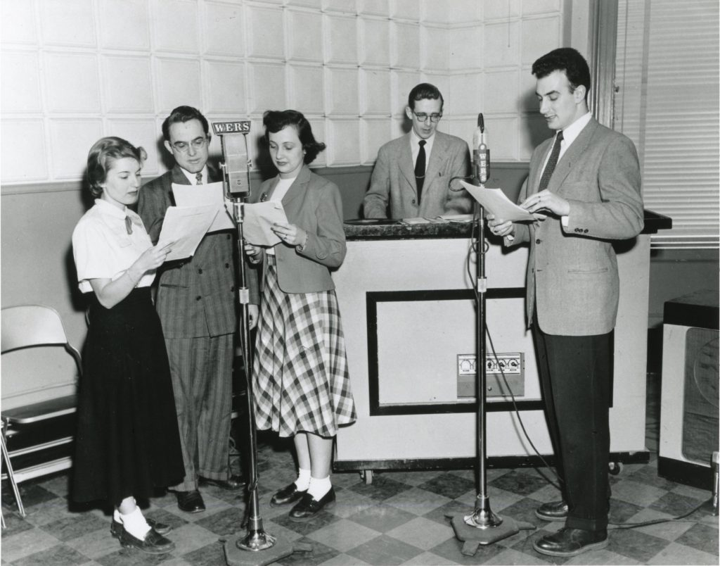 A WERS broadcast in 1949, the first year of the station