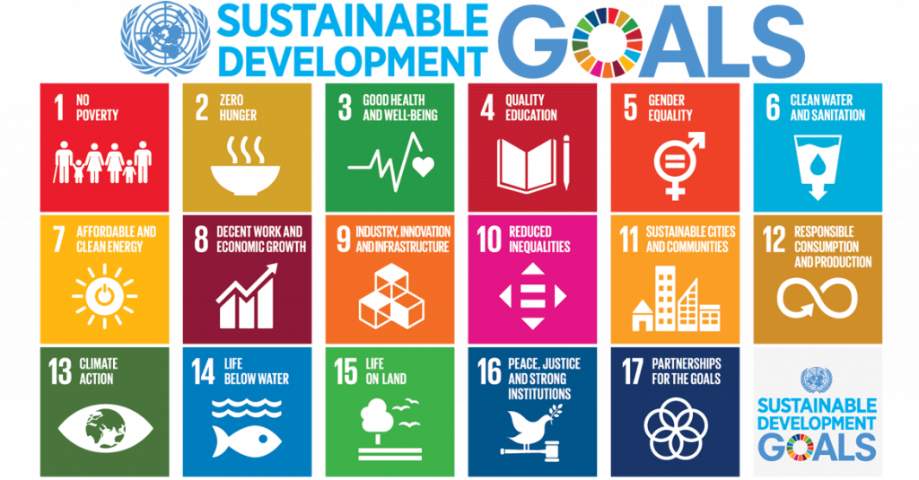 A chart of Sustainable Development Goals