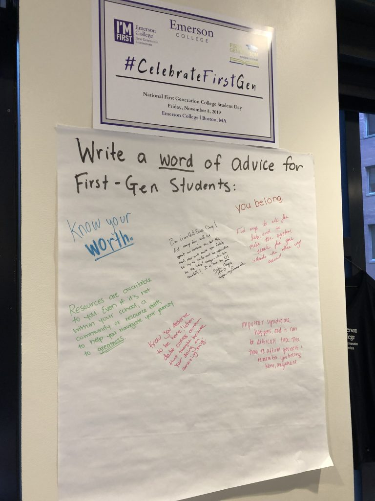 Encouragements written for first-generation, low-income Emerson College students.