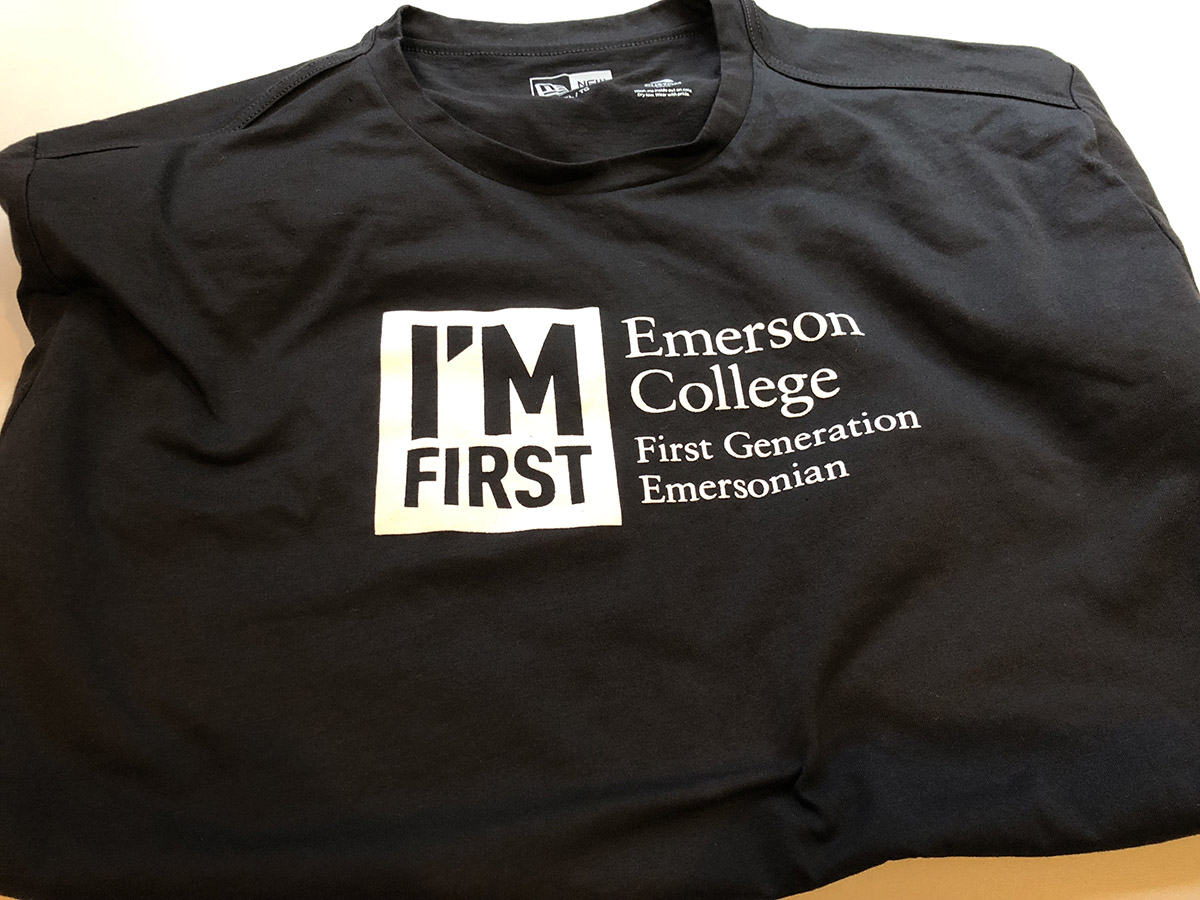 'I'm First' t-shirts are available through the First Gen E-M organization.