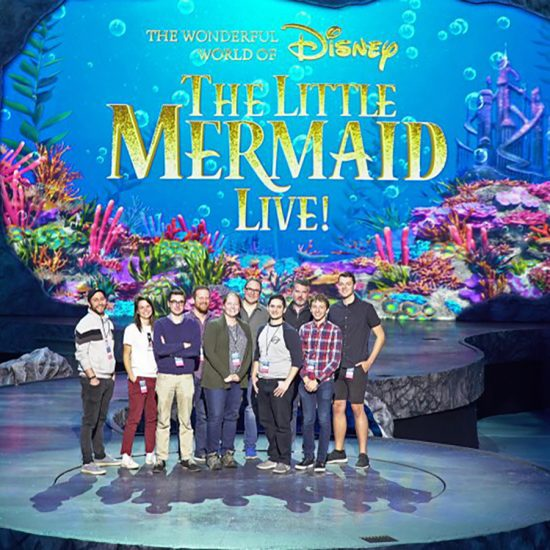 emersonians on Little Mermaid set