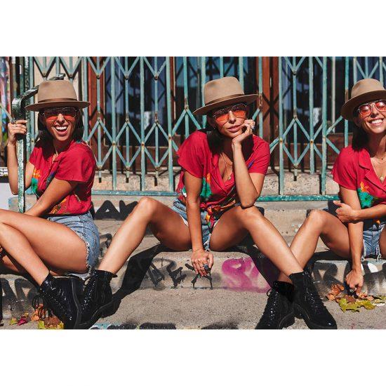 Triple shot of Jade Catta-Preta posing