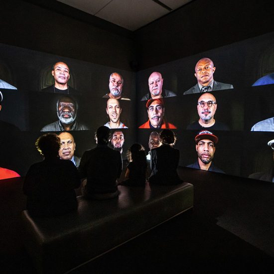 faces on video screens