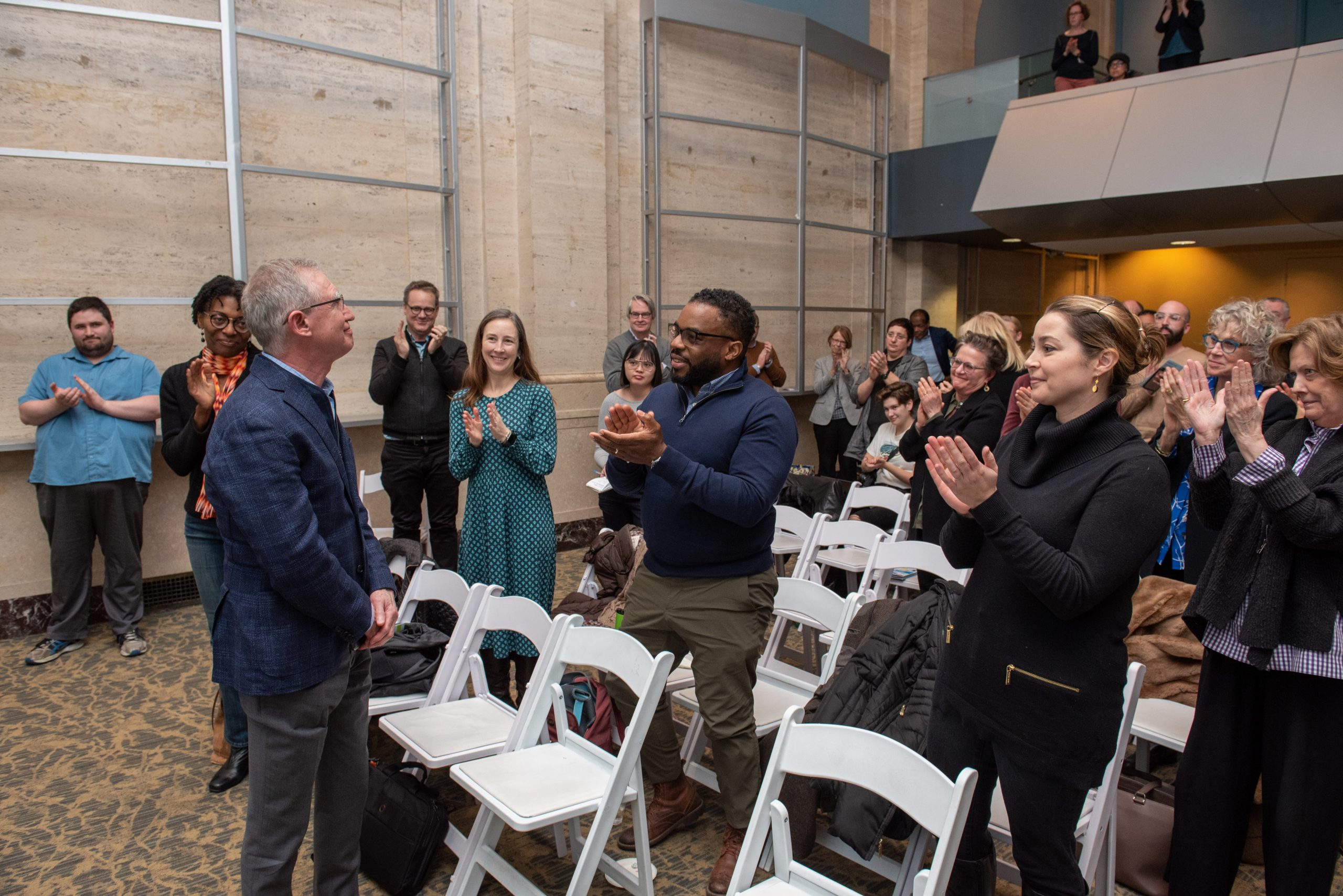Bob Colby receives standing ovation at Faculty Assembly