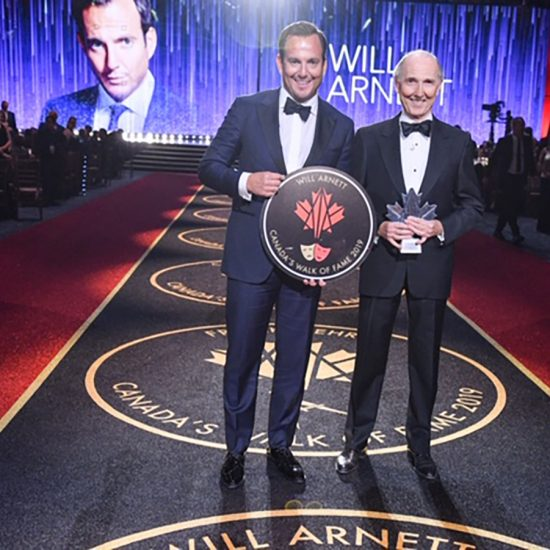 Will Arnett and Emerson James Arnett at Will's induction into the Canada Walk of Fame.