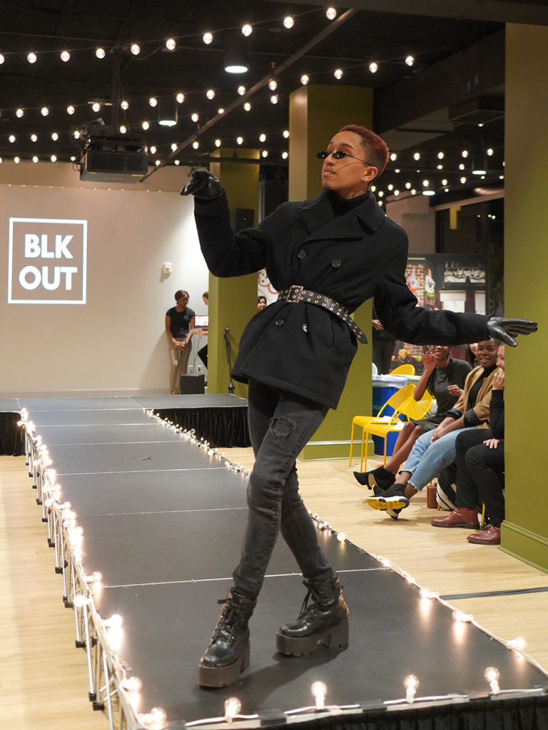 Jaeden poses on runway