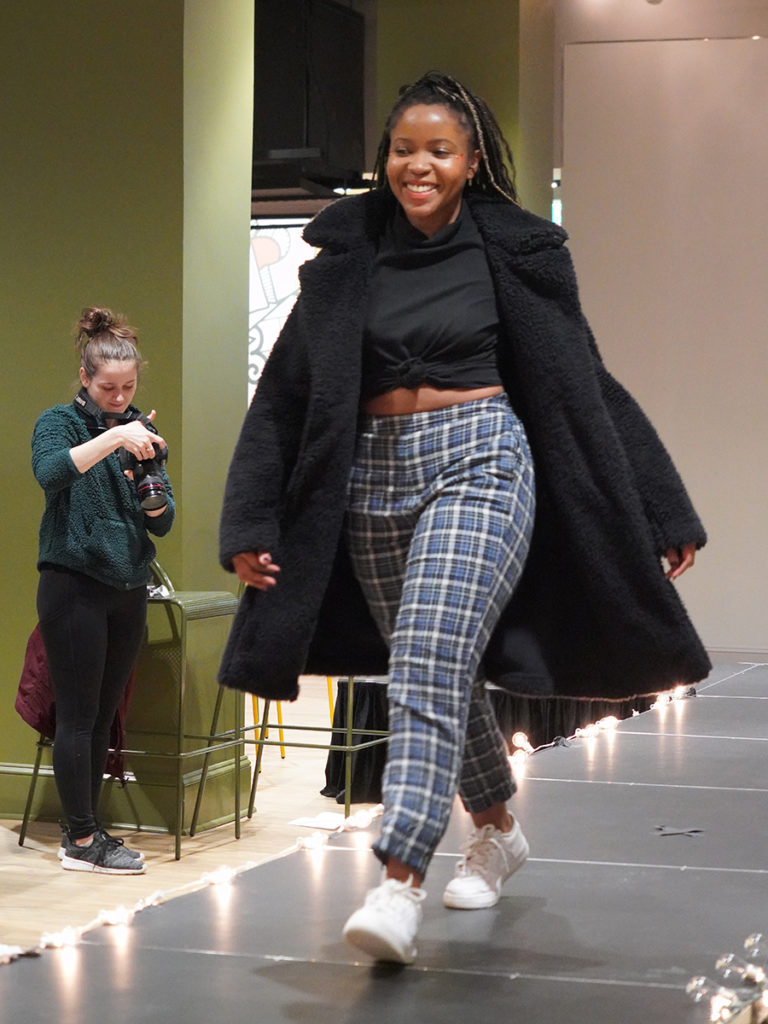 Magenta Thomas walks runway