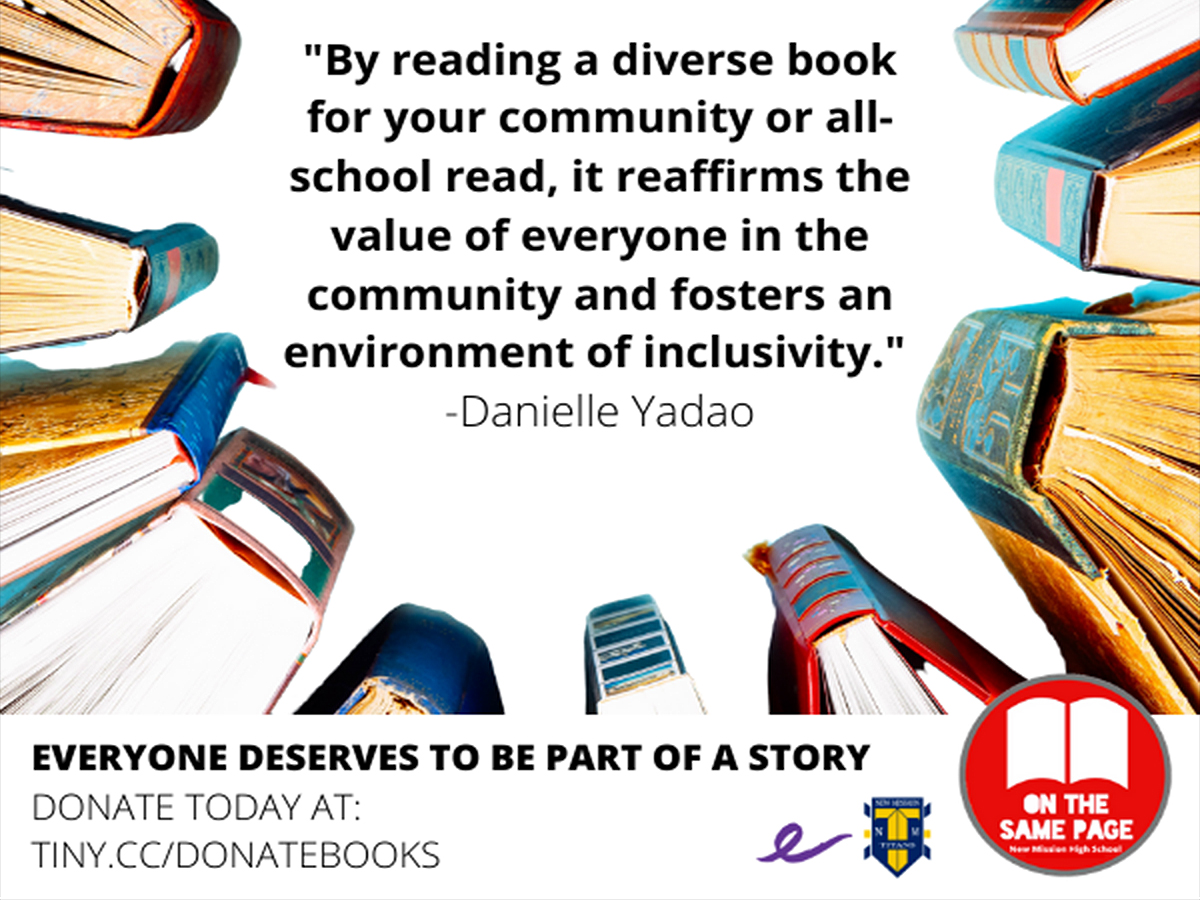 On the Same Page promo poster for diverse books