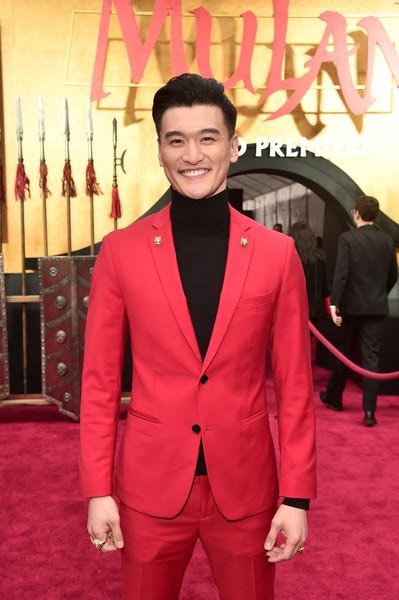 Chen Tang outside the world premiere of Mulan.