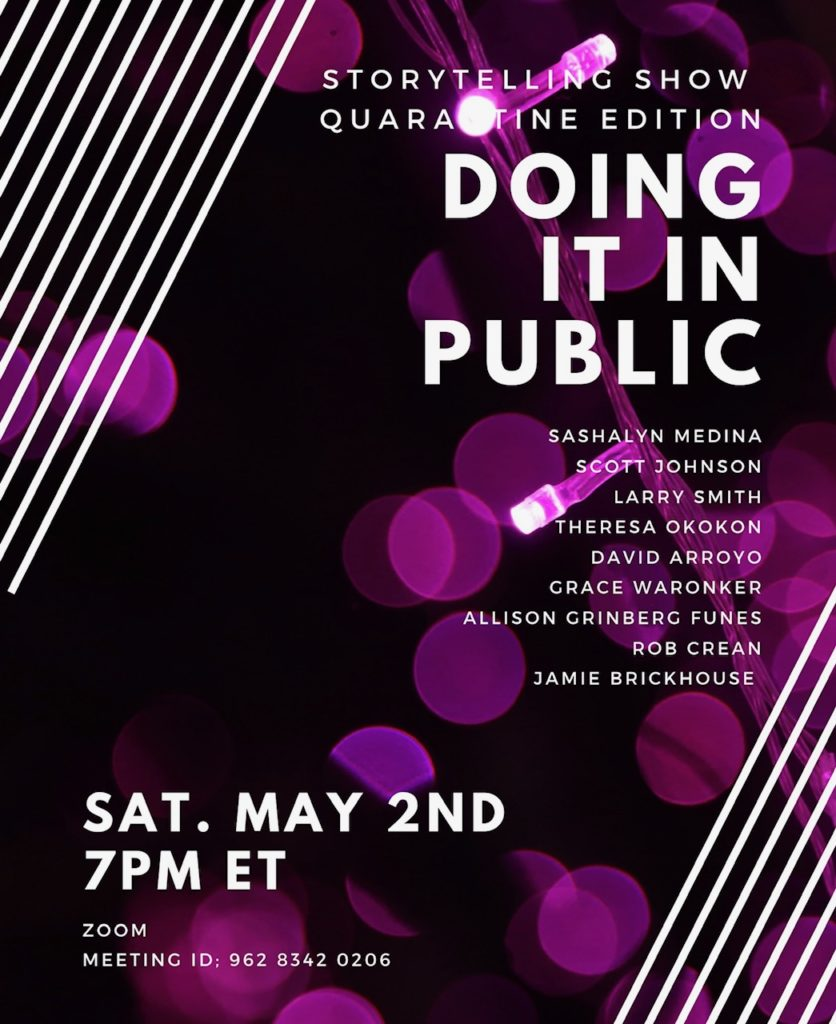 Flyer for Doing It In Public