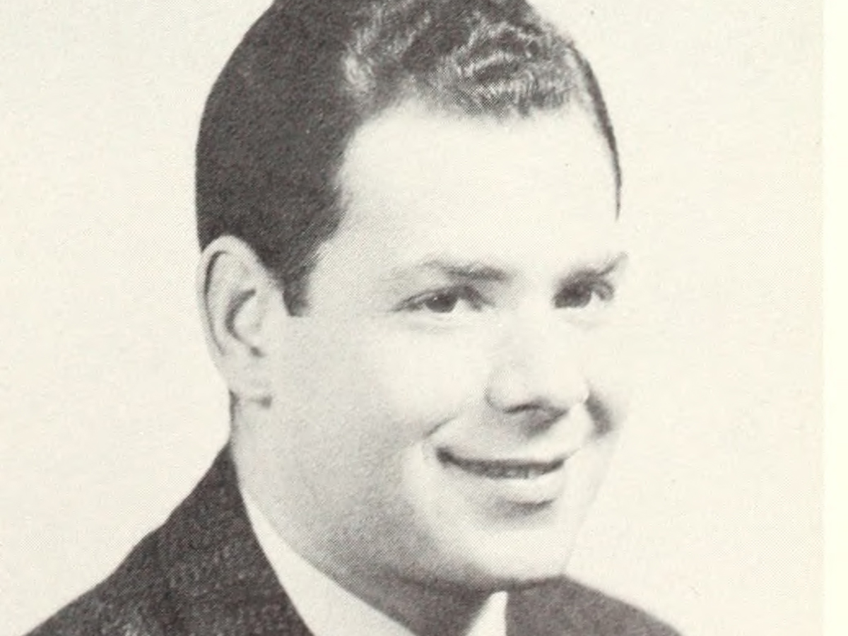 Gerald Blume yearbook photo