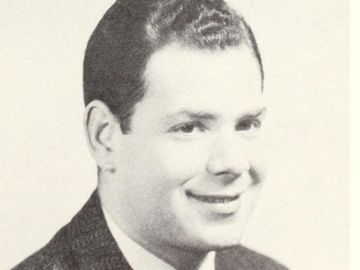 Gerald Blume yearbook photo