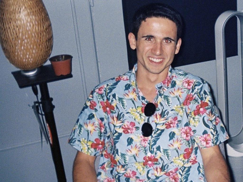 Bram Lowenstein in floral shirt