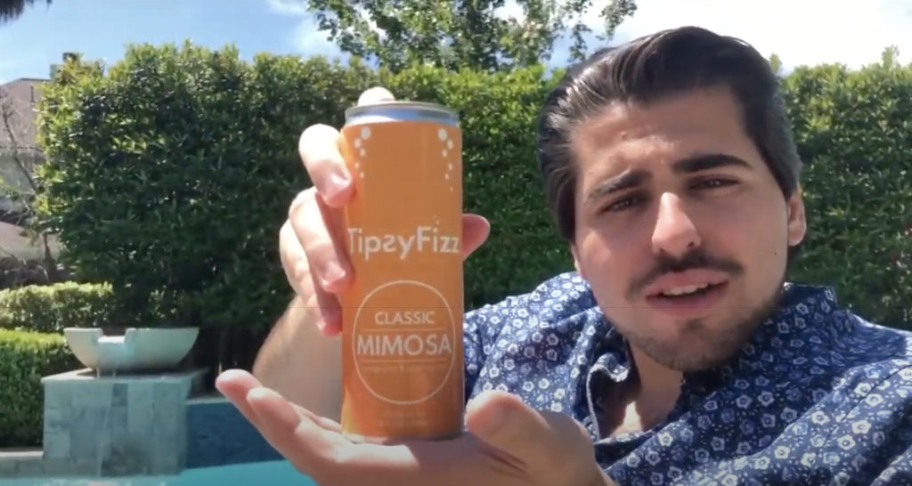 TipƧyFizz, a business venture created by Chris Rodriguez '21, who won the $5,000 first-place prize during this year's E3 Expo