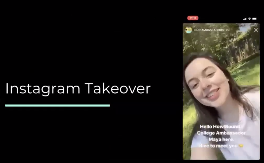 A screen shot of the Instagram Takeover by HowlRound ambassadors this spring as orchestrated by BCE students.