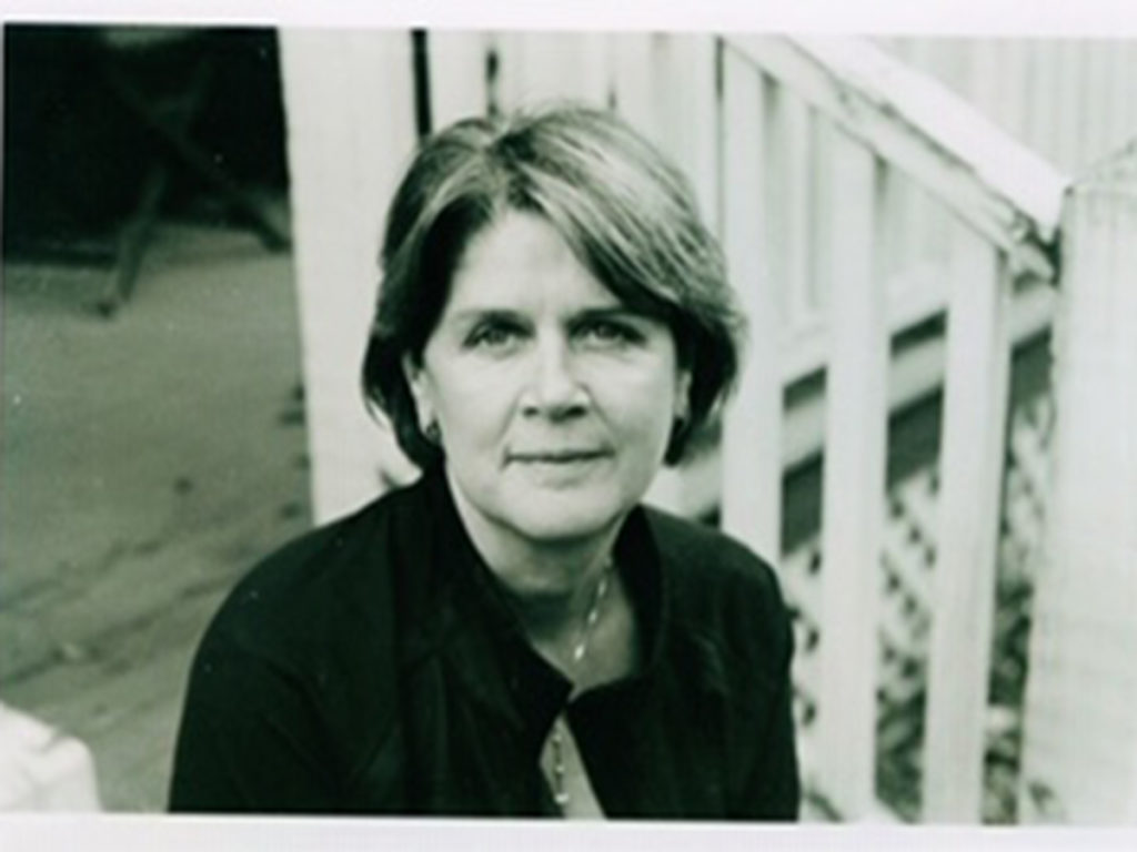 lise haines on porch