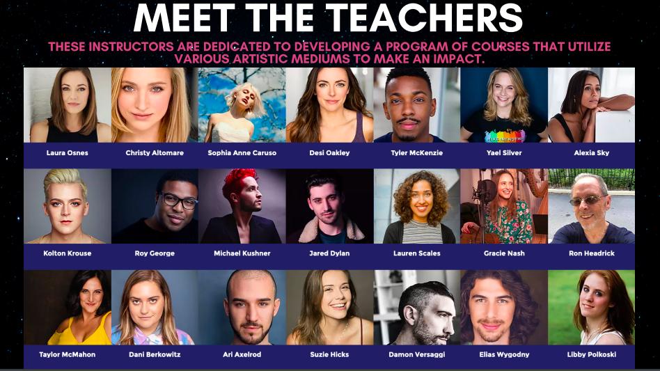 Teachers/impact artists teaching EFC's summer series
