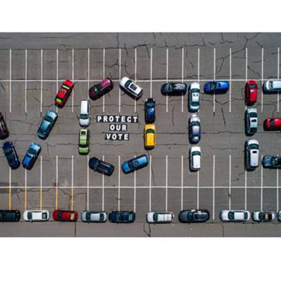 cars in lot spell out