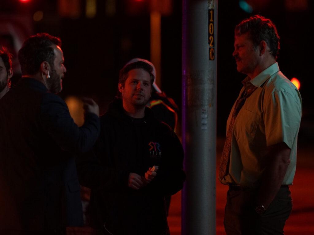 jordan vandina on binge set with director and star