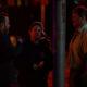 jordan vandina on set with director and star