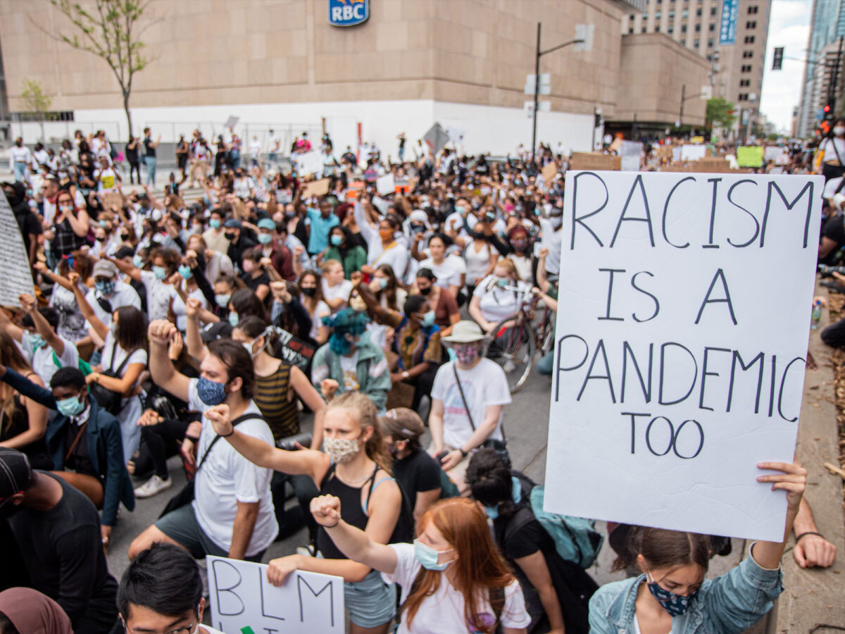 Black Lives Matter Protest in Montreal, Canada on June 7, 2020. [Photo/Ying Ge via Upsplash]