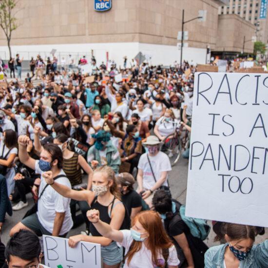 Black Lives Matter Protest in Montreal, Canada on June 7, 2020. [Photo/Ying Ge via Upsplash]