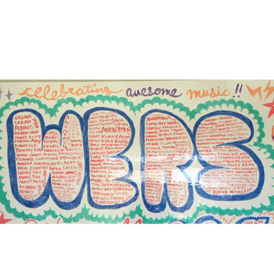 Graffiti that reads WERS