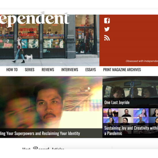 Screen shot of The Independent