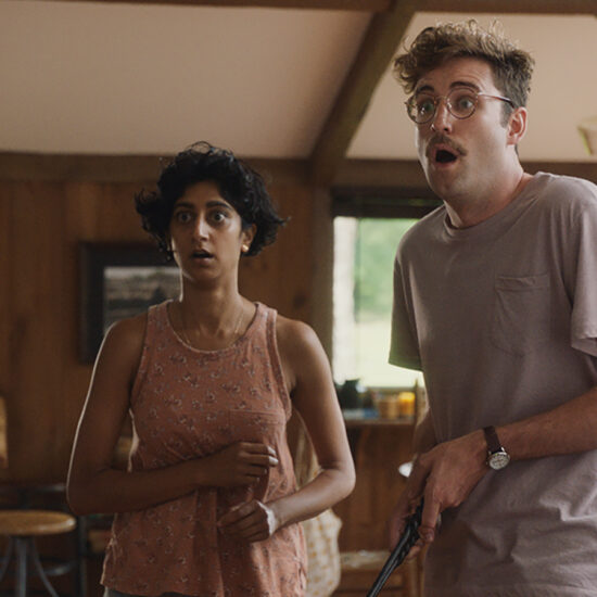 Emerson alum Sunita Mani, left, stars in Save Yourselves!