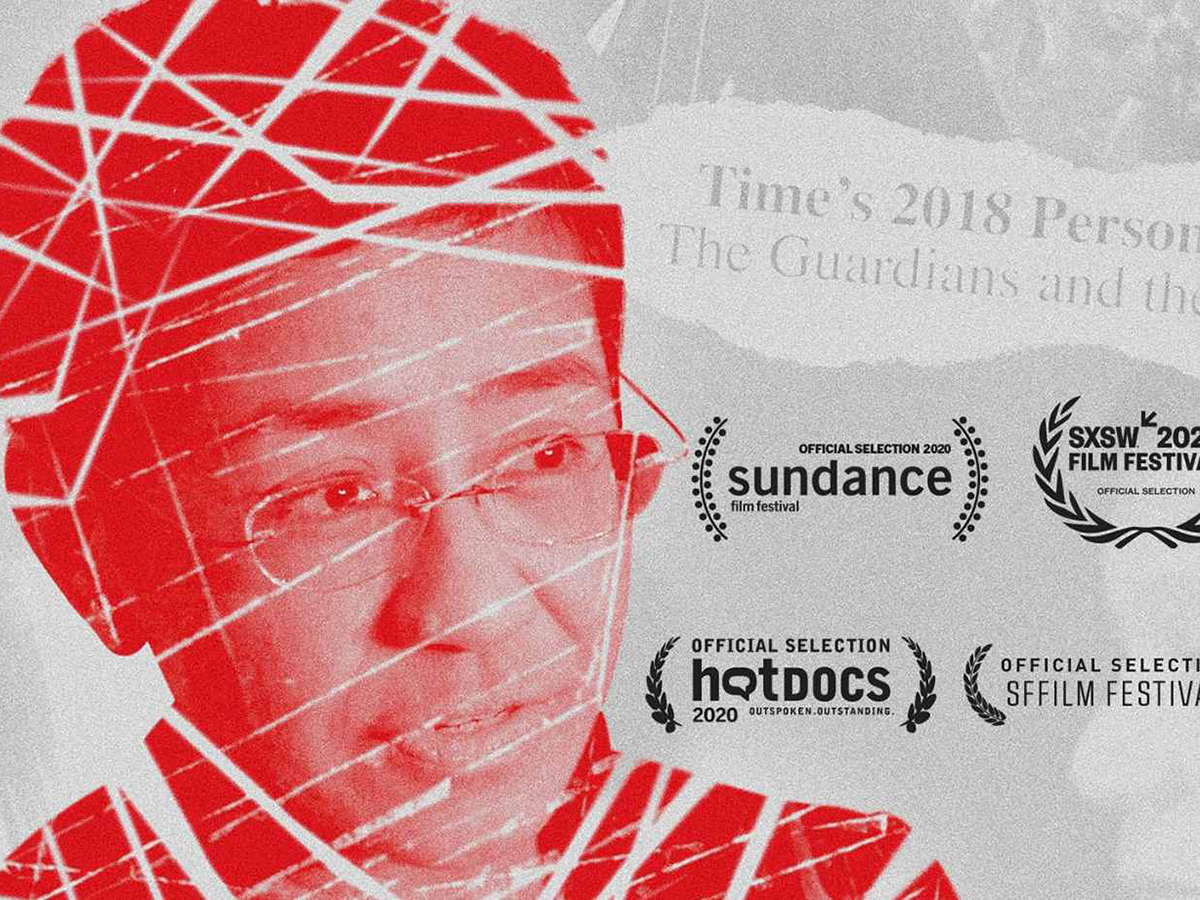 film poster-red photo of Maria Ressa