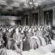 19th century audience listening to recital