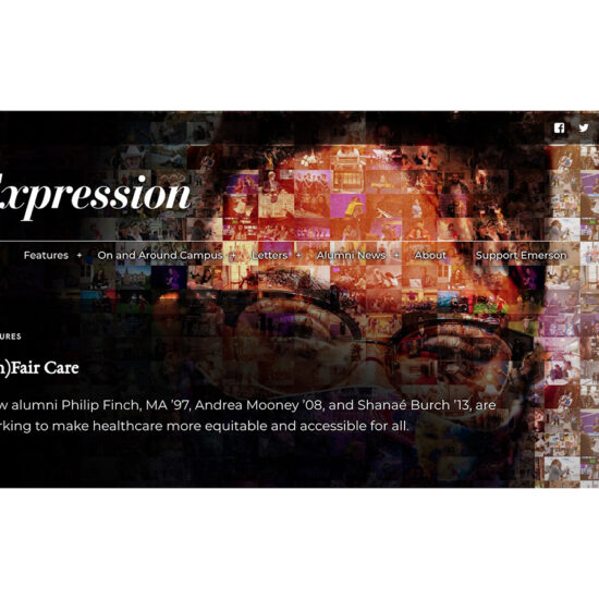 Expression Online home page screen shot