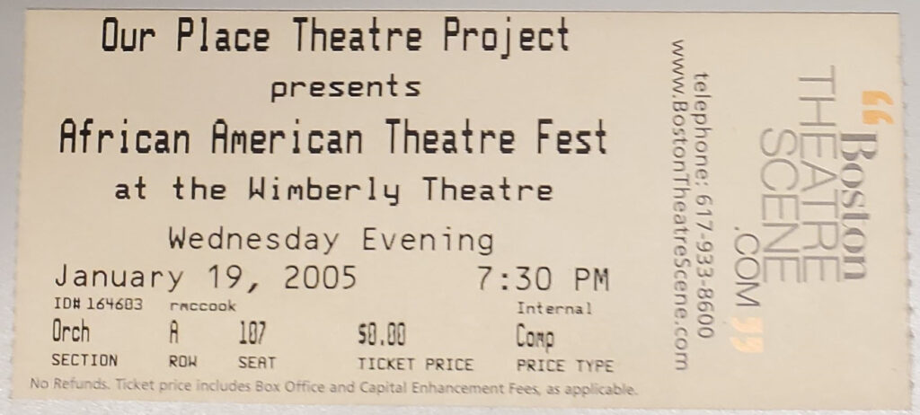 A ticket from a play
