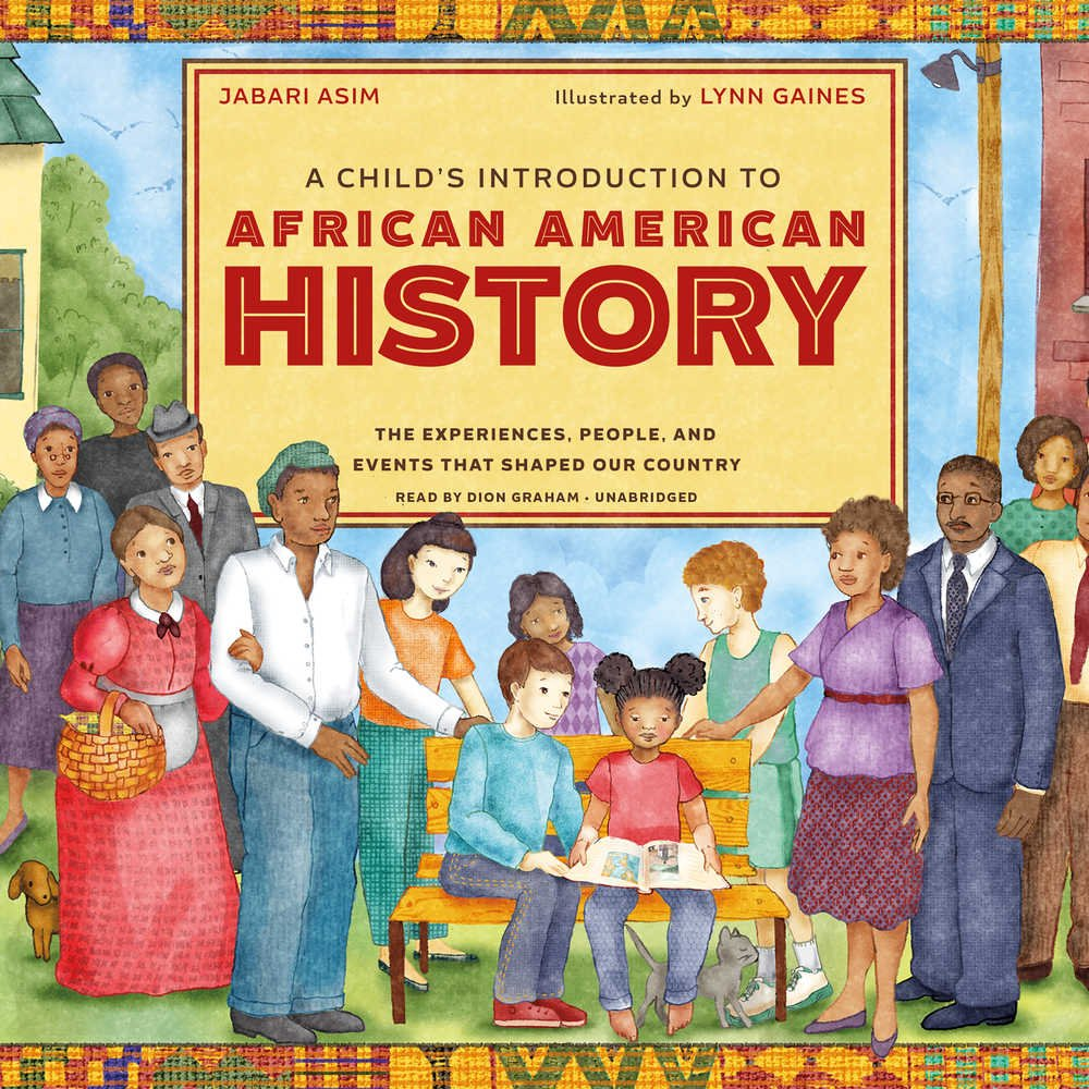 book jacket, featuring drawing of Black historical figures