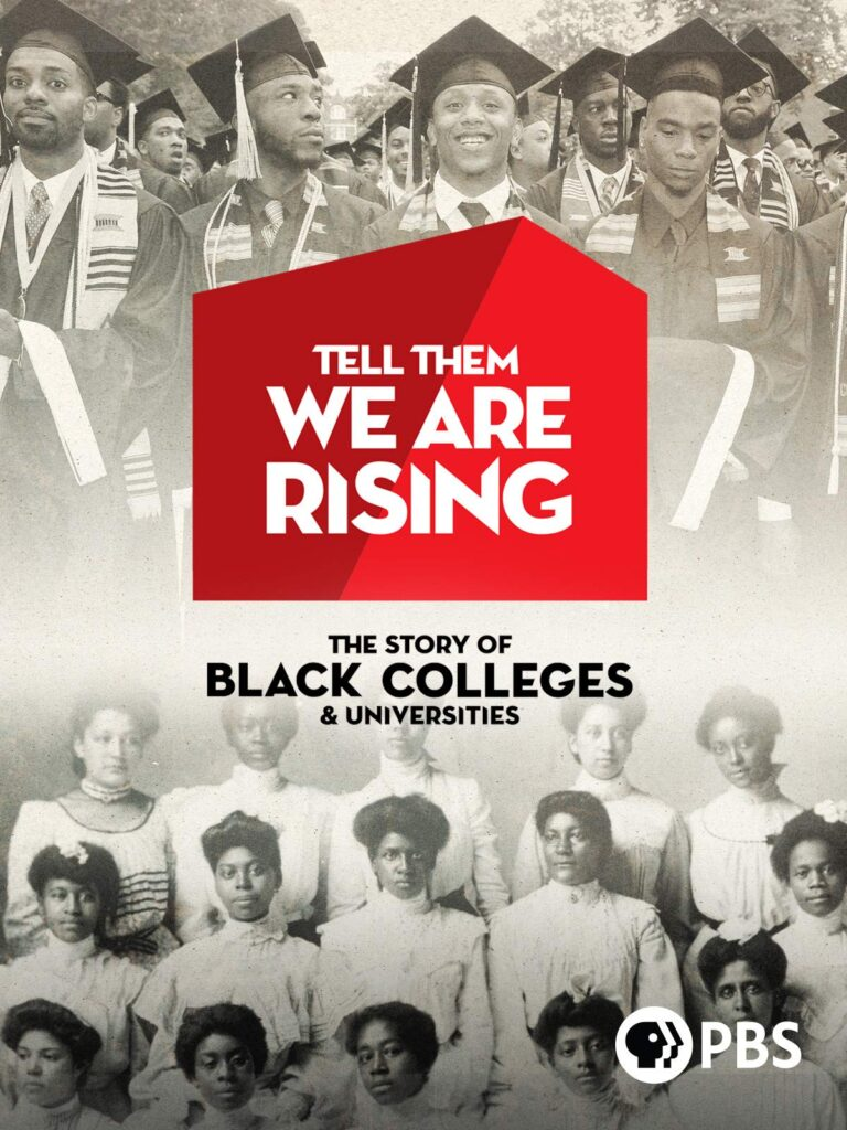 Tell Them We Are Rising poster, with historic images of Black graduates