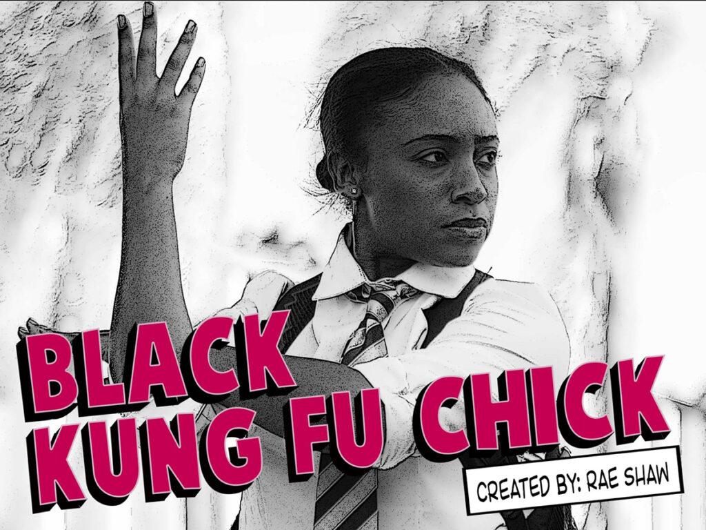 drawing of Black girl in Kung Fu pose