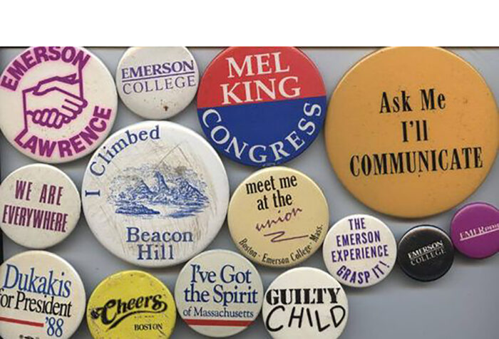 Emerson themed buttons