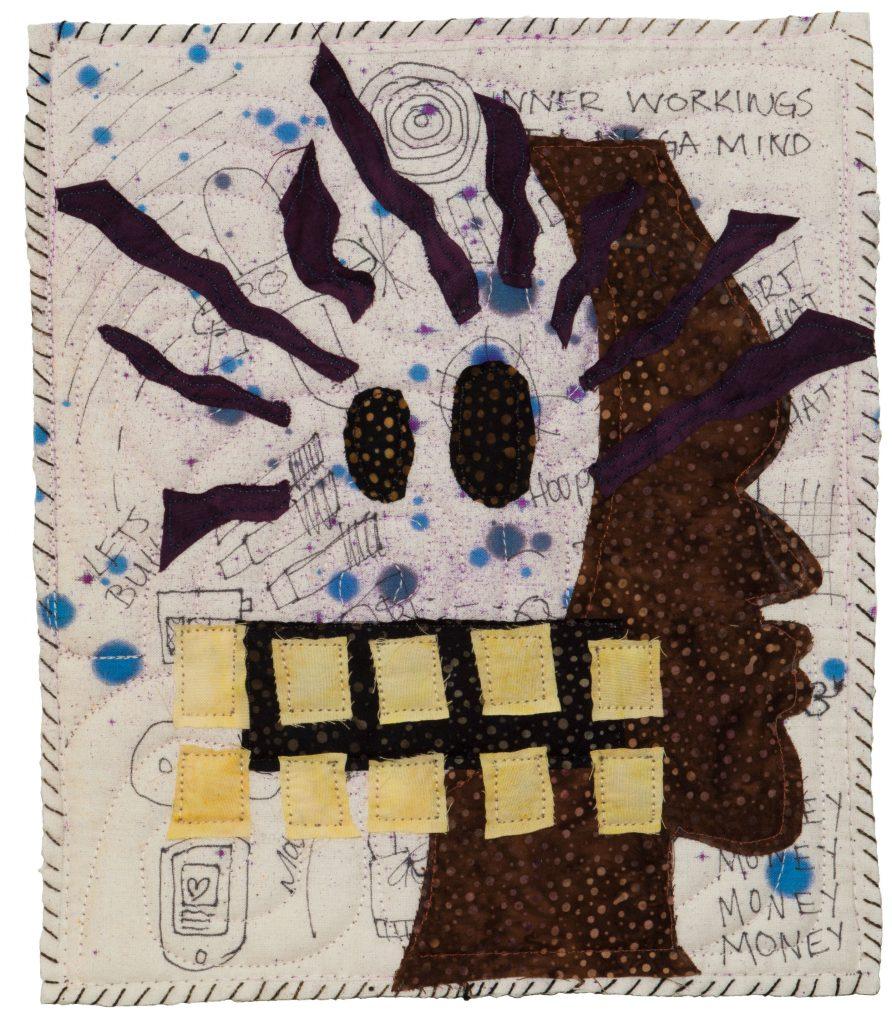An artistically made quilt