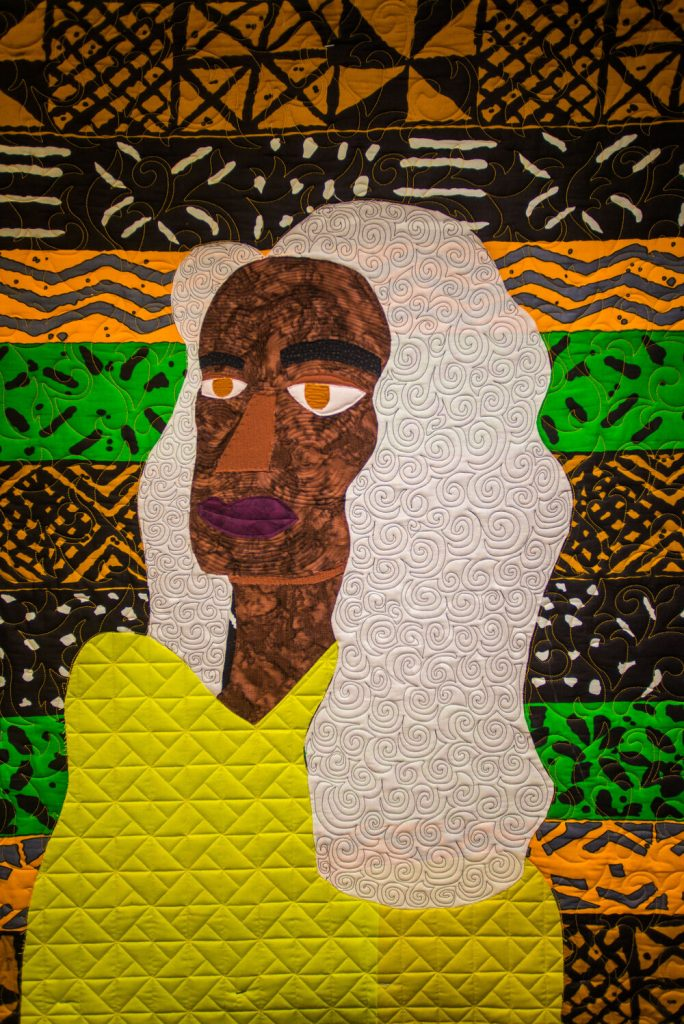 A quilt of a person