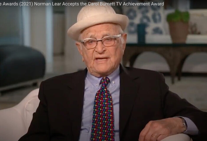 screen shot of norman lear seated