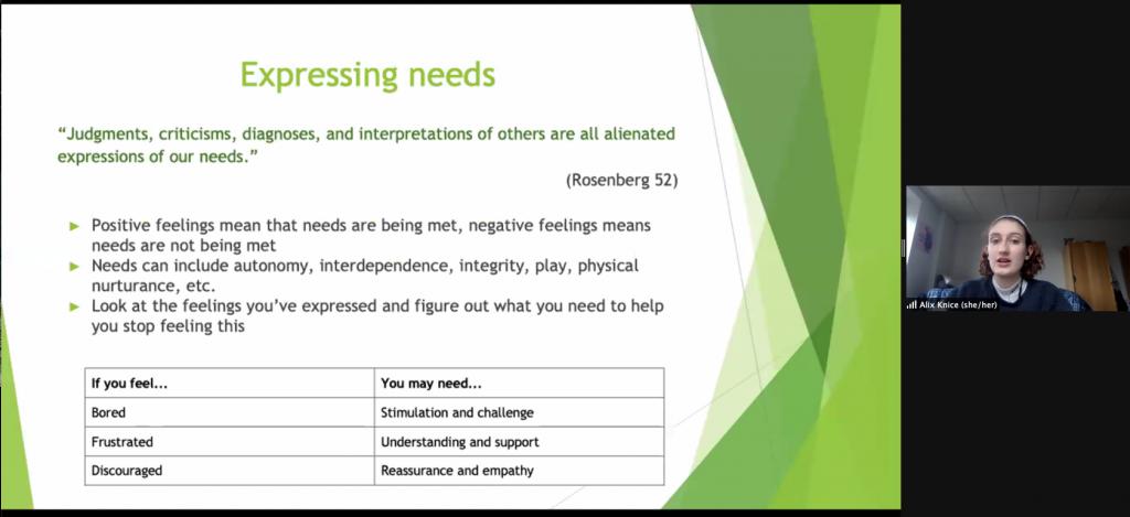 Slide describing how needs are expressed