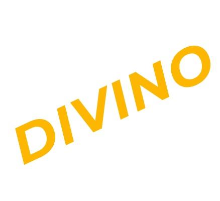 Divino logo: yellow text
