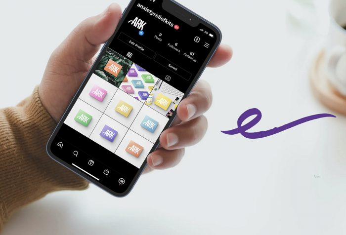 hand holding smartphone with ARK app open